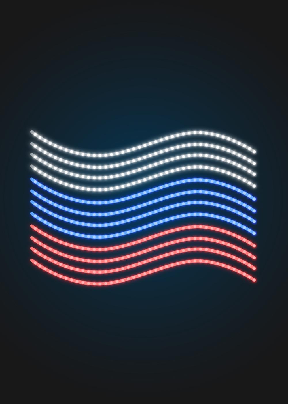 Светодиодная консоль - ФЛАГ РОССИИ